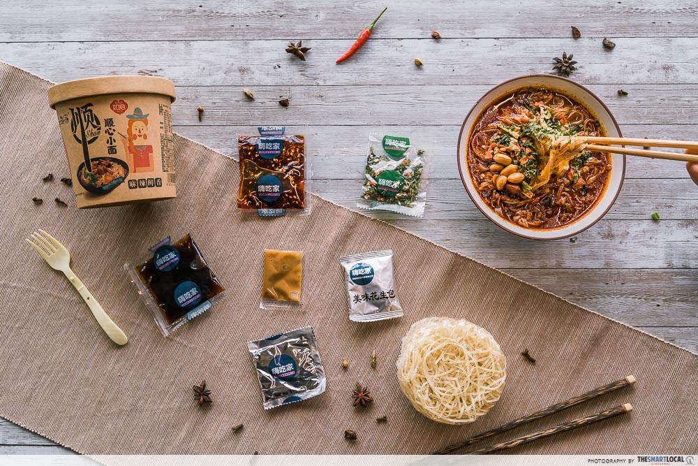 Hai Chi Jia Review - Shun Xin Xiao Mian ingredients