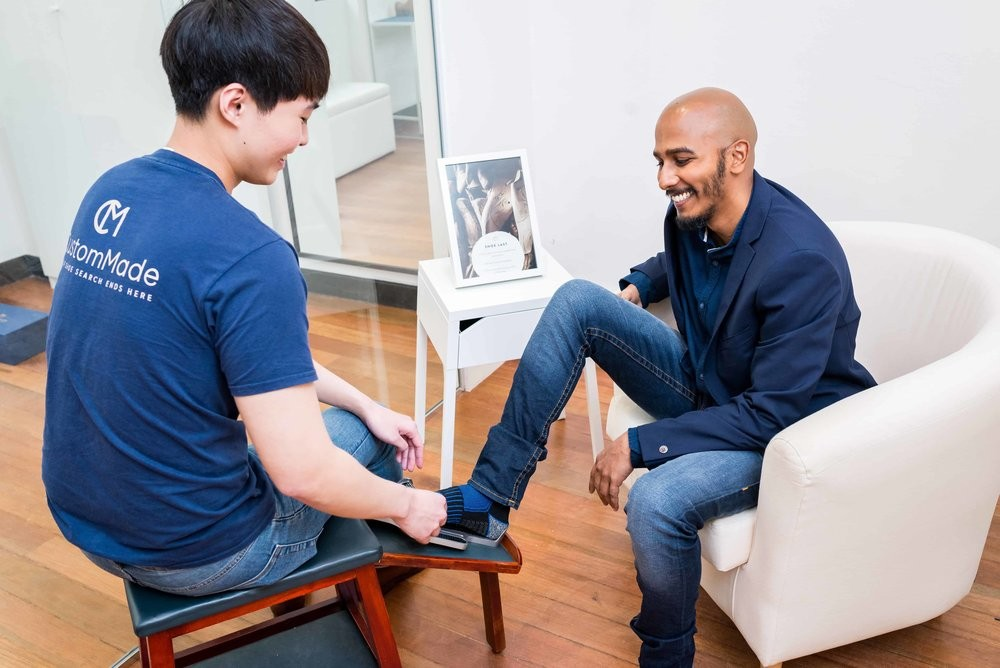 men's leather shoes in singapore - custommade shoe fitting session