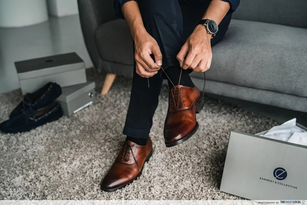 men's leather shoes in singapore - earnest and collective shoes