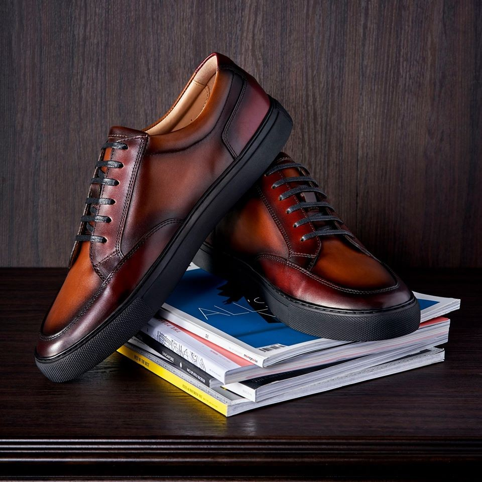 men's leather shoes in singapore - leather sneakers by diamond walker
