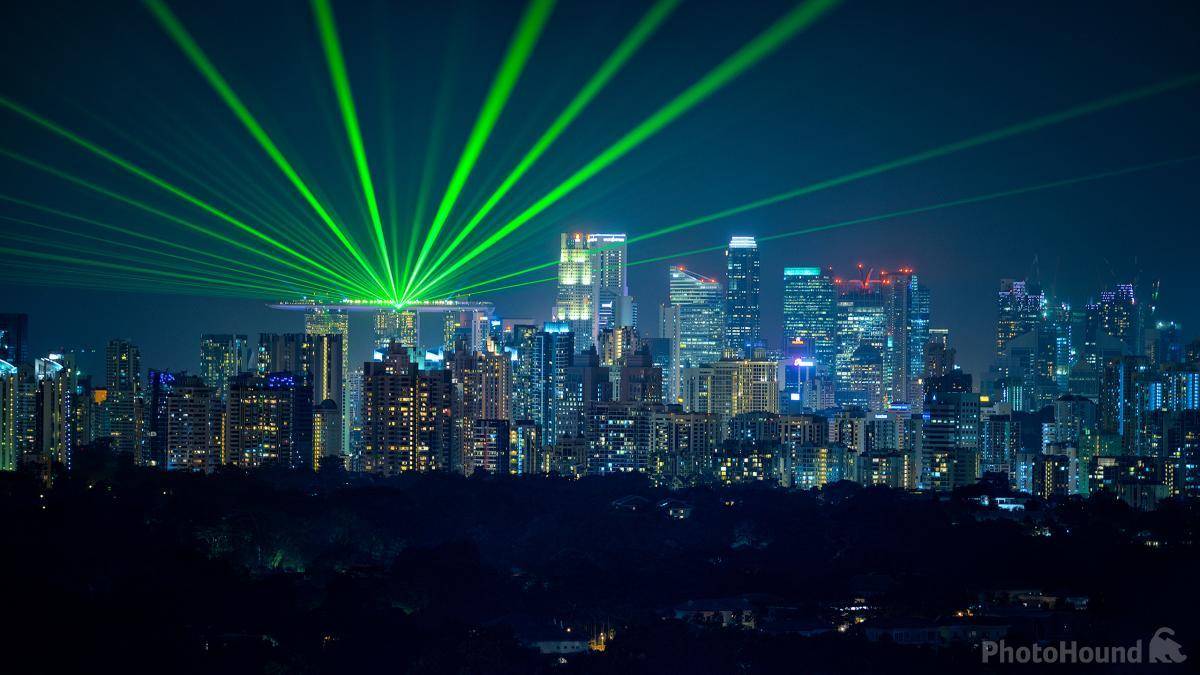 With the right equipment, you can catch the laser show at MBS from Holland.