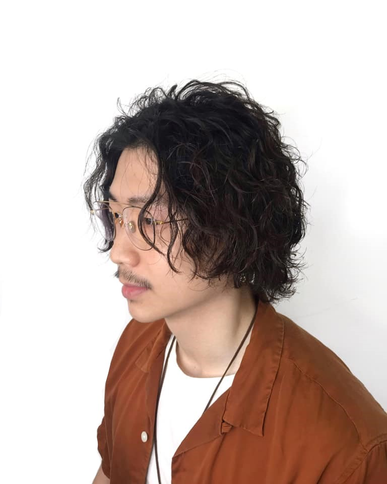 curly bob - perm hairstyles for men