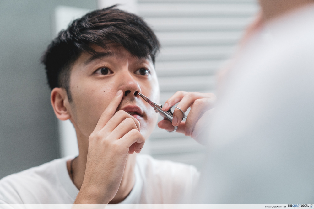 personal hygiene mistakes - trimming nose hair