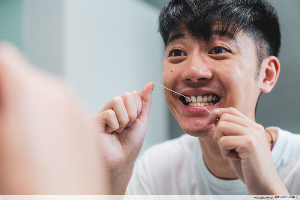 personal hygiene mistakes - flossing