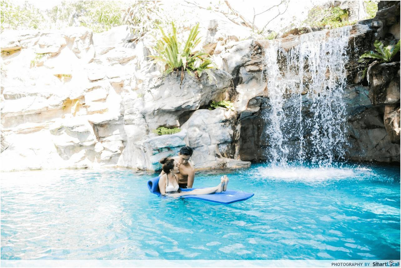 Phase 2 reopened hotels - Waterfall pool Sofitel Sentosa -