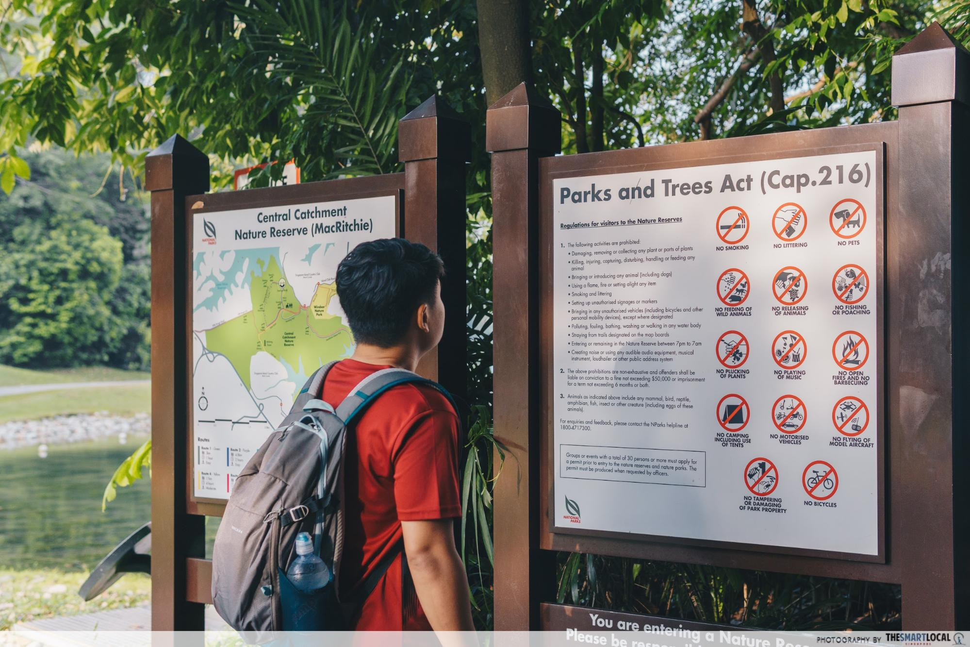 Macritchie - maps and signs