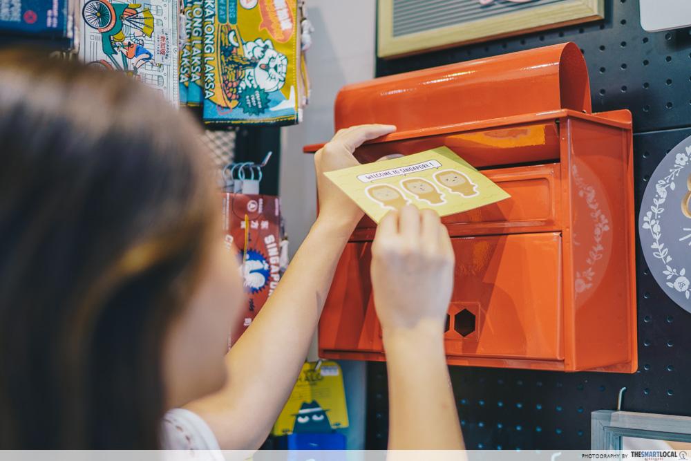 things to do jewel changi - klosh mailbox