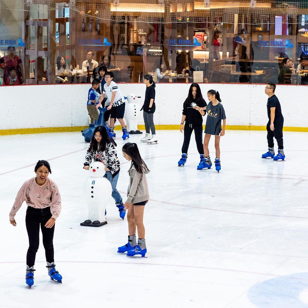 jcube ice skating rink