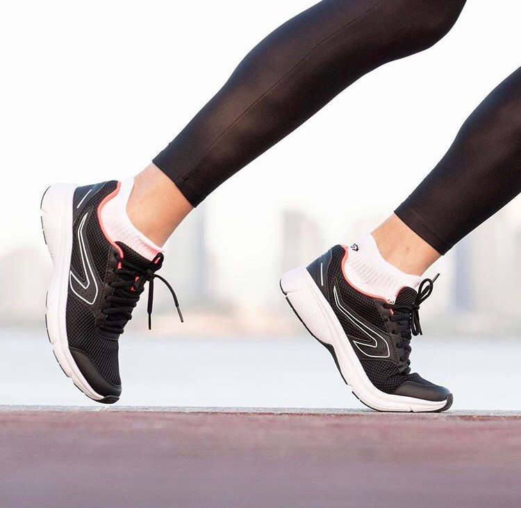 Win decathlon vouchers to buy Cushion Running Shoes in black