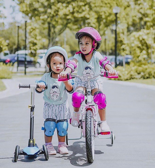Win decathlon vouchers to buy B1 blue kids scooter and pink bike