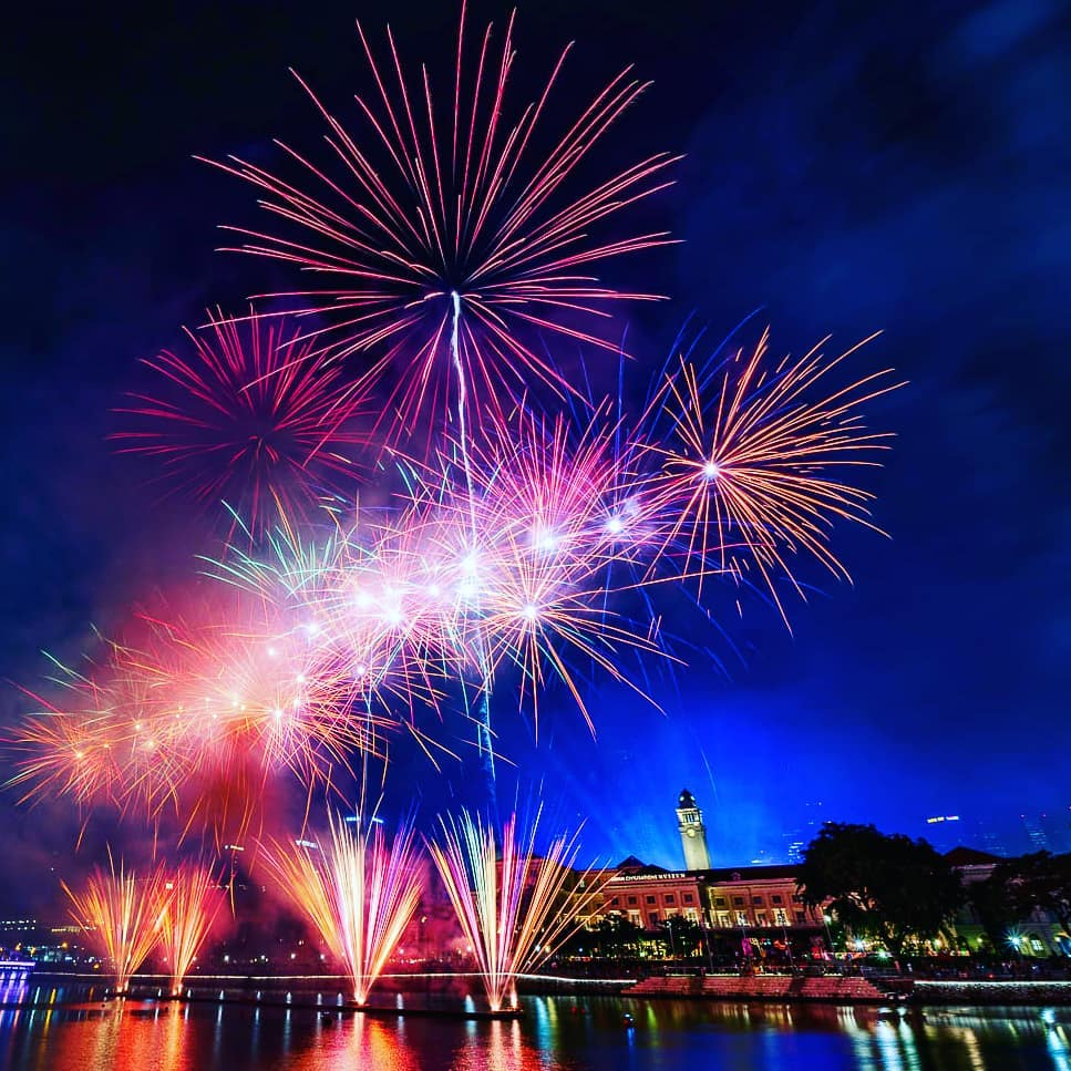 ndp 2020 fireworks - from Boat Quay, you can get incredible images of the display along the river.