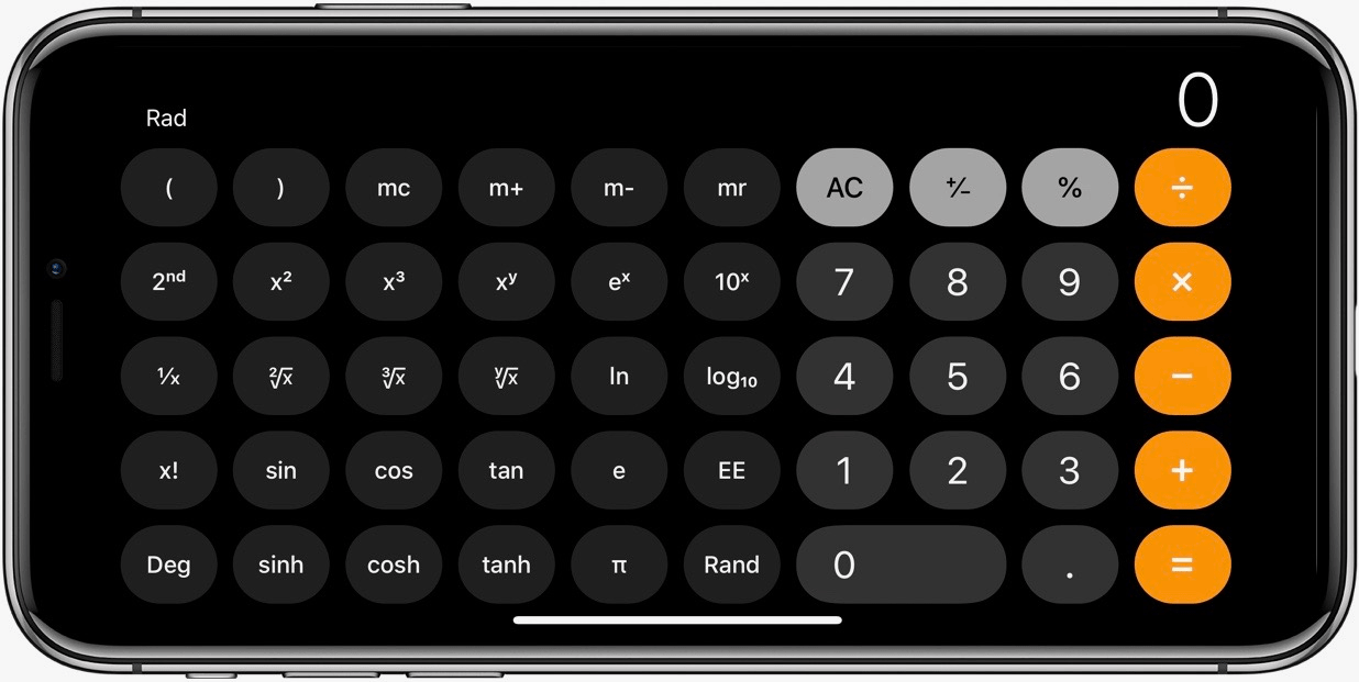 Apple iPhone Hacks - Scientific Calculator Landscape Rotation