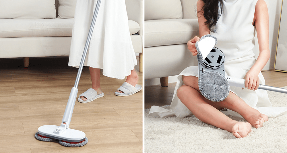 Best Mops in Singapore - Double Rotating Brush Heads