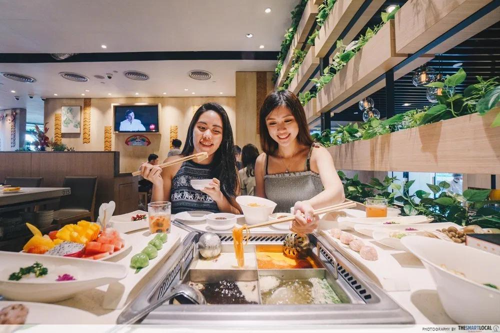 Giving parents money - Hai Di Lao hotpot meal