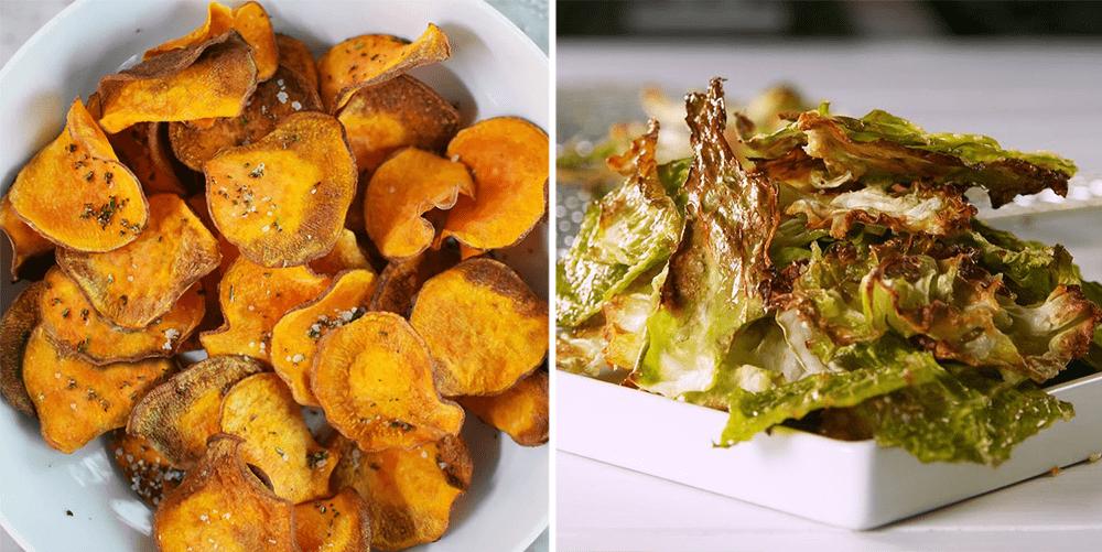 Food Grocery Hacks - Airfryer Vegetable Chips