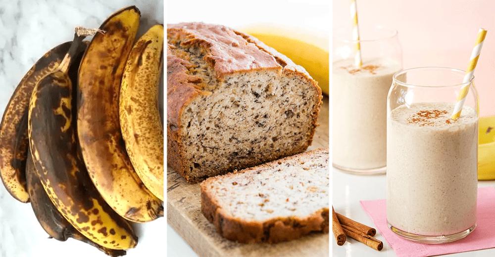 Food Grocery Hacks - Overripe Banana Bread Smoothie