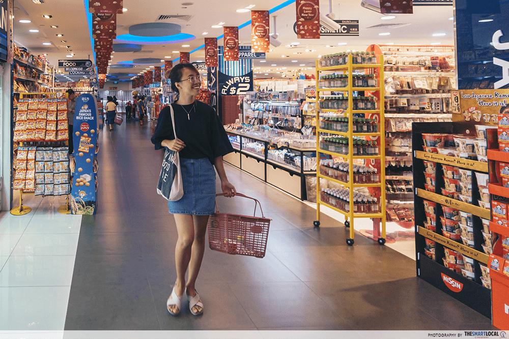 Reusable Shopping Bag - Grocery Shopping at Supermarket