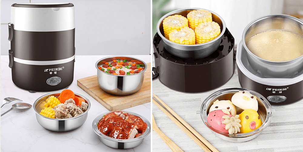 Reusable Food Containers - Electric Self-Heating Lunchbox