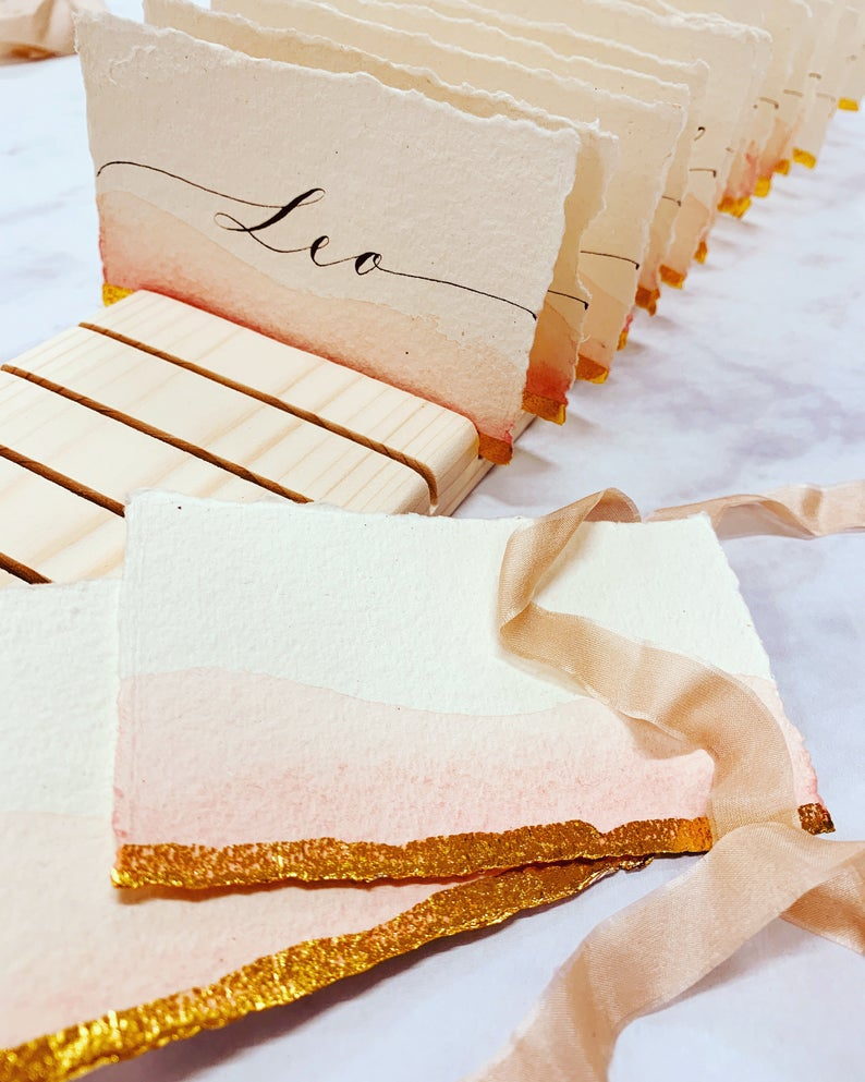 Handcrafted placecards