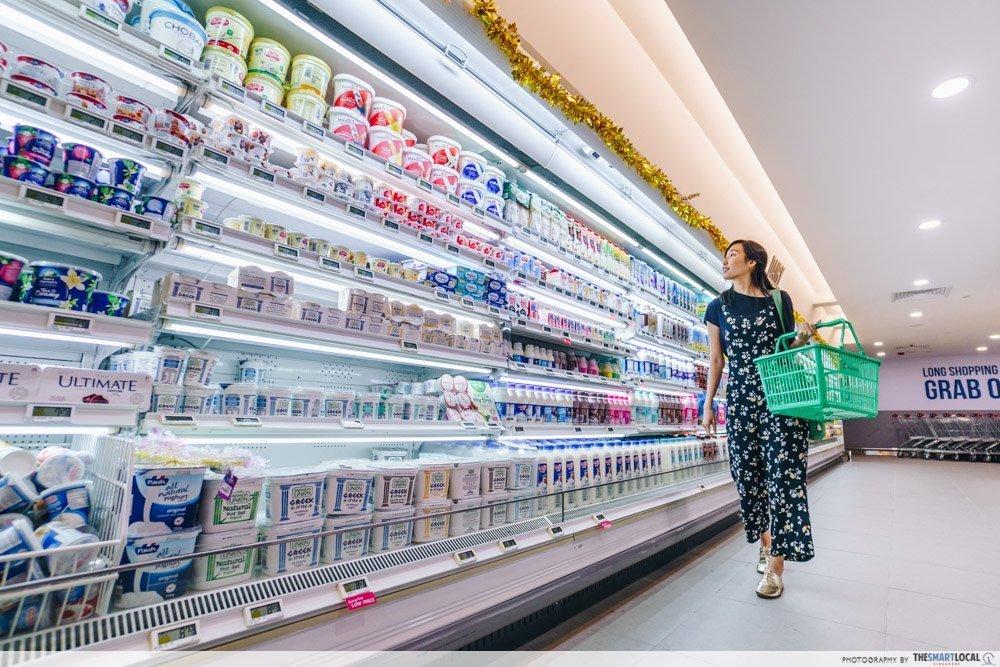 Supermarket hacks - use a basket instead of trolley