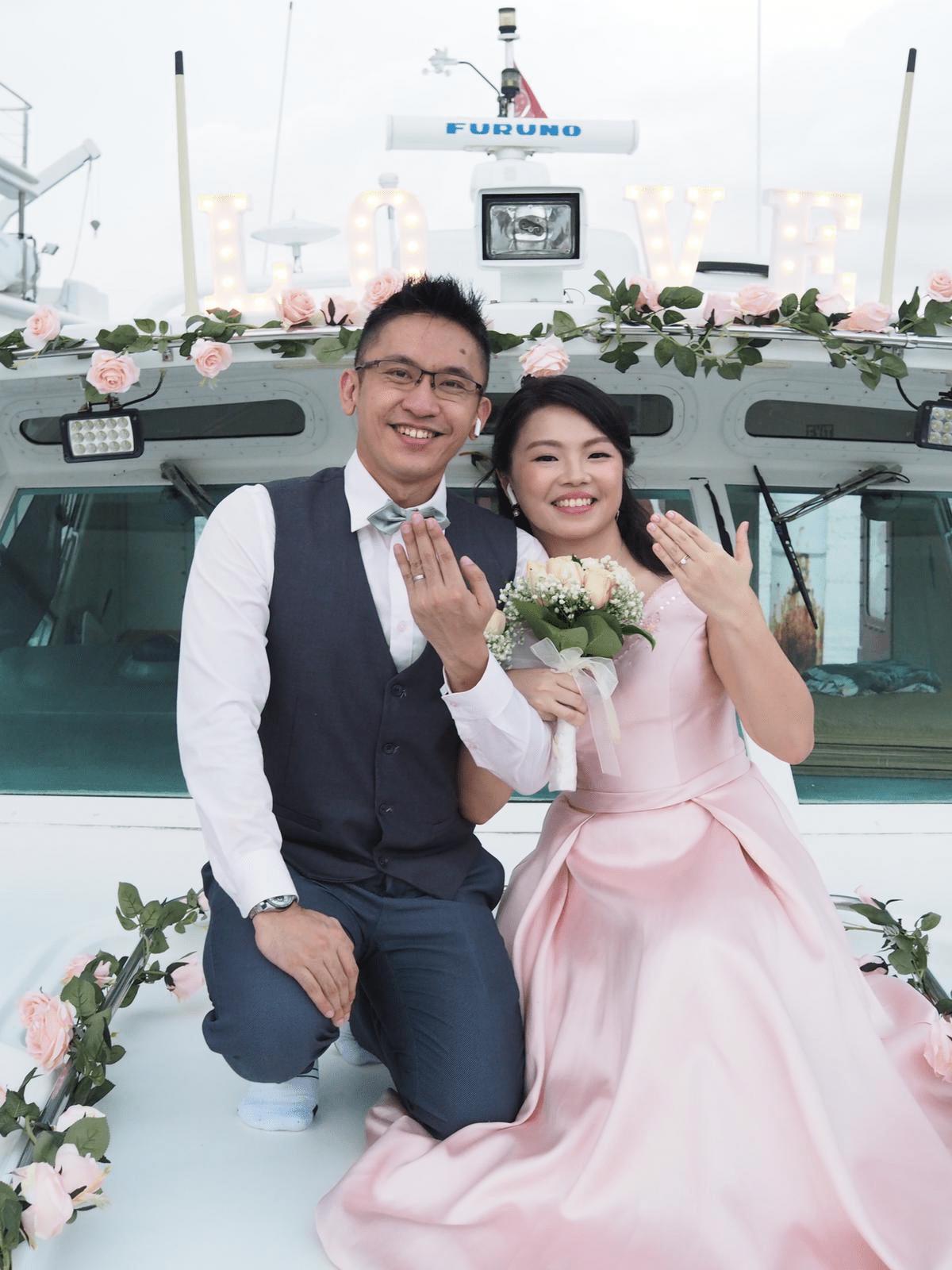 Tun & Yan Ning Yacht Wedding Solemnisation Singapore