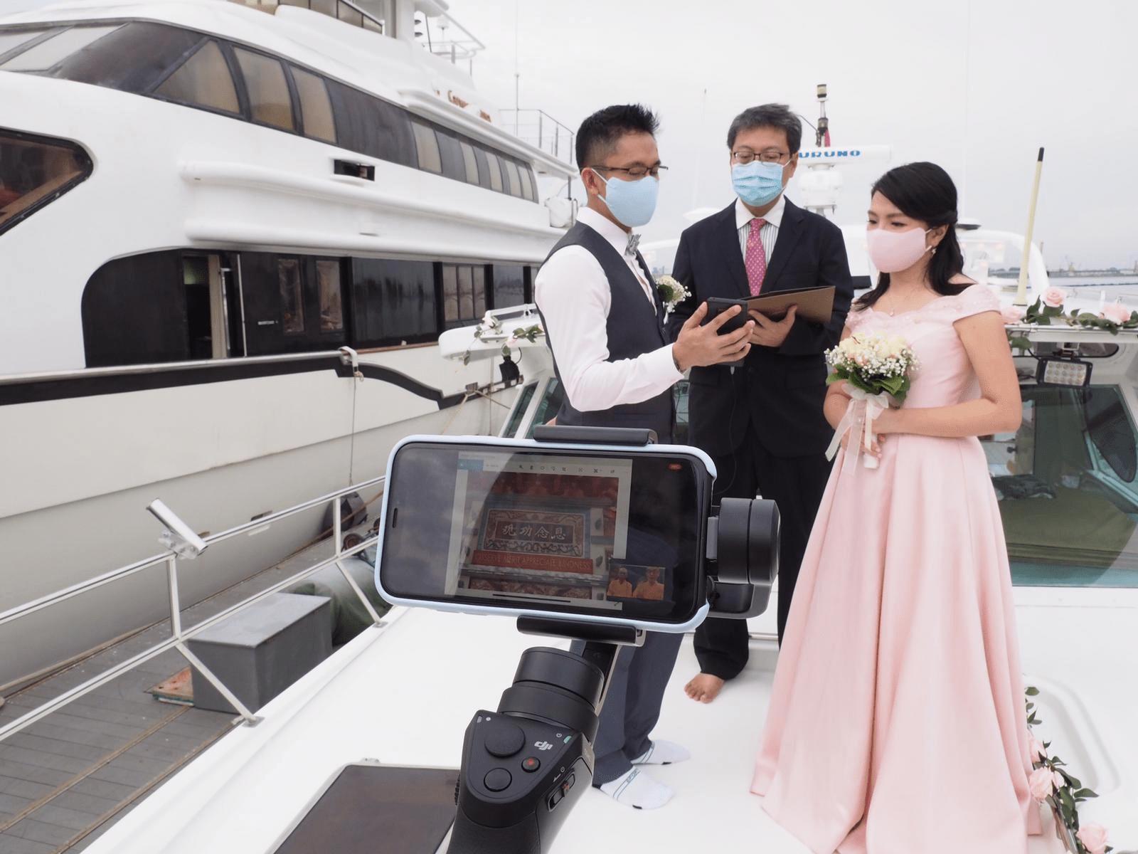 Singapore Yacht Solemnisation COVID-19 Wedding