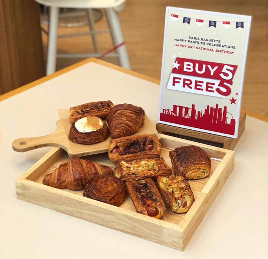 august 2020 deals - get 5 pastries from Paris Baguette free when you buy 5.