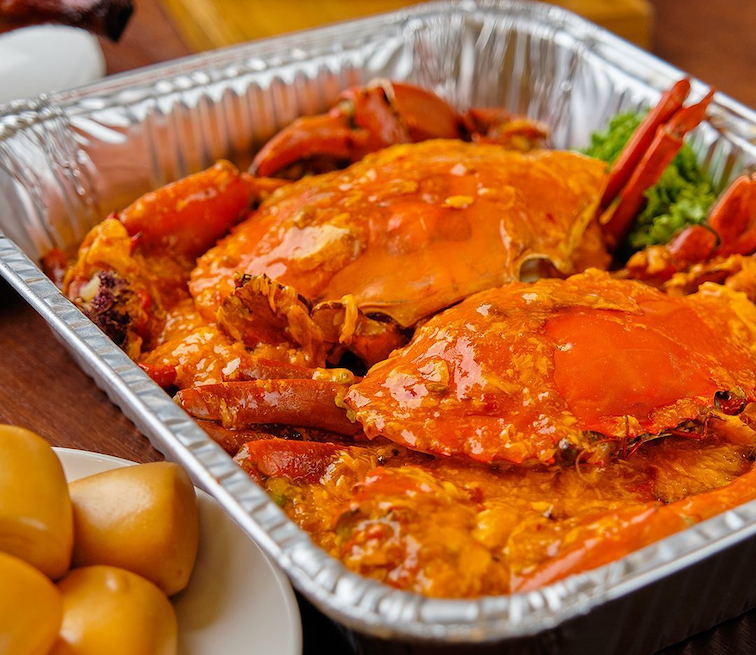 august 2020 deals - get 1-for-1 chilli crab at peach garden restaurants.