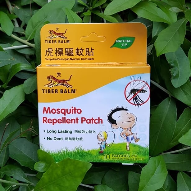 best mosquito repellents in singapore - mess-free and easy to use, the tiger balm patch can be stuck on clothes.
