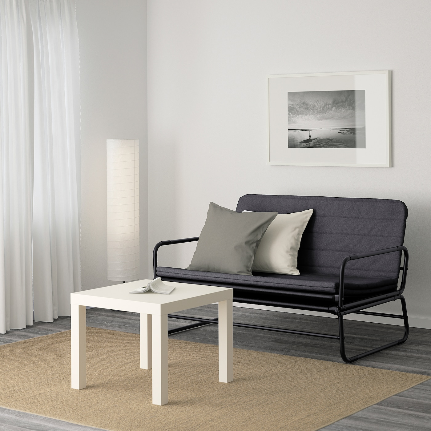IKEA hammarn sofa bed grey is lightweight