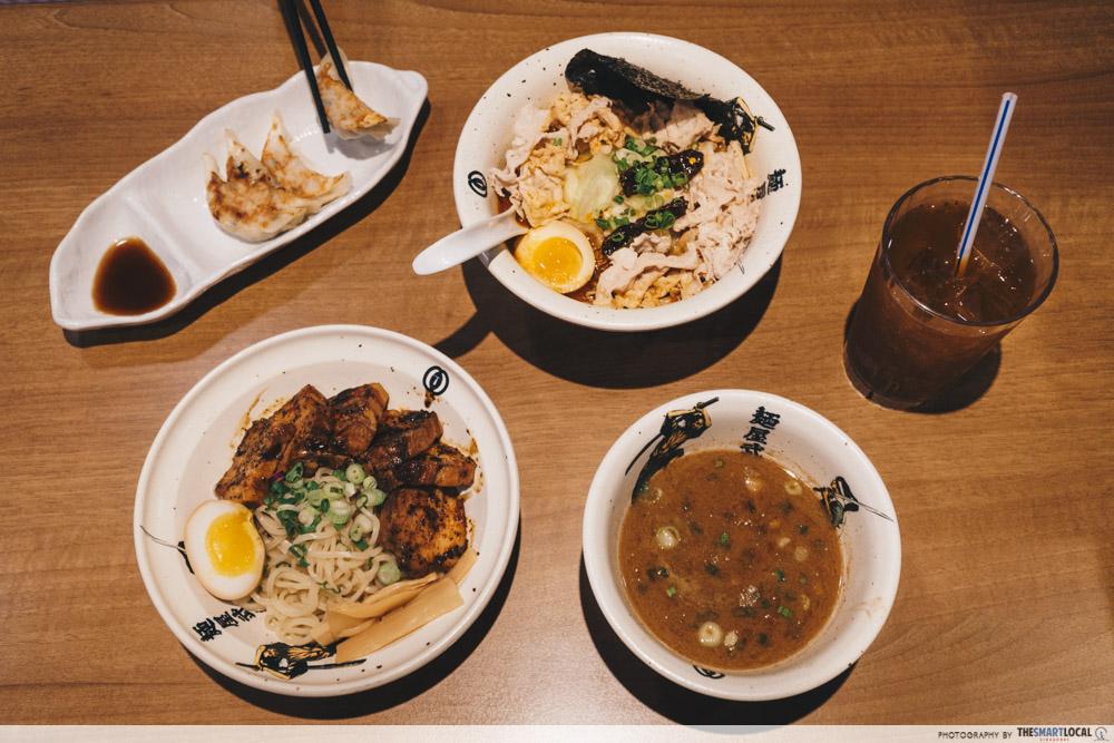 Bugis Junction Menya Musashi set meal