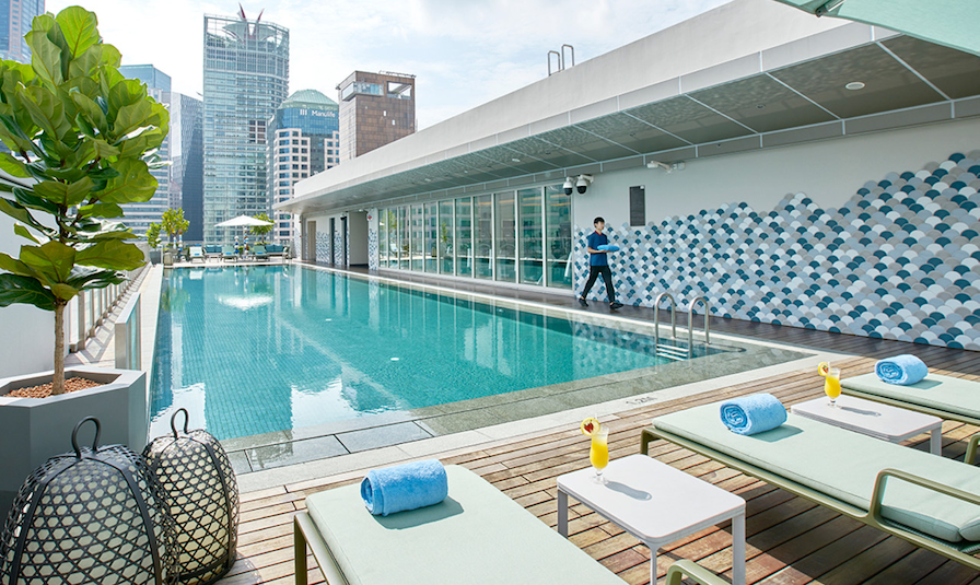 capri by fraser china square - pool and deck