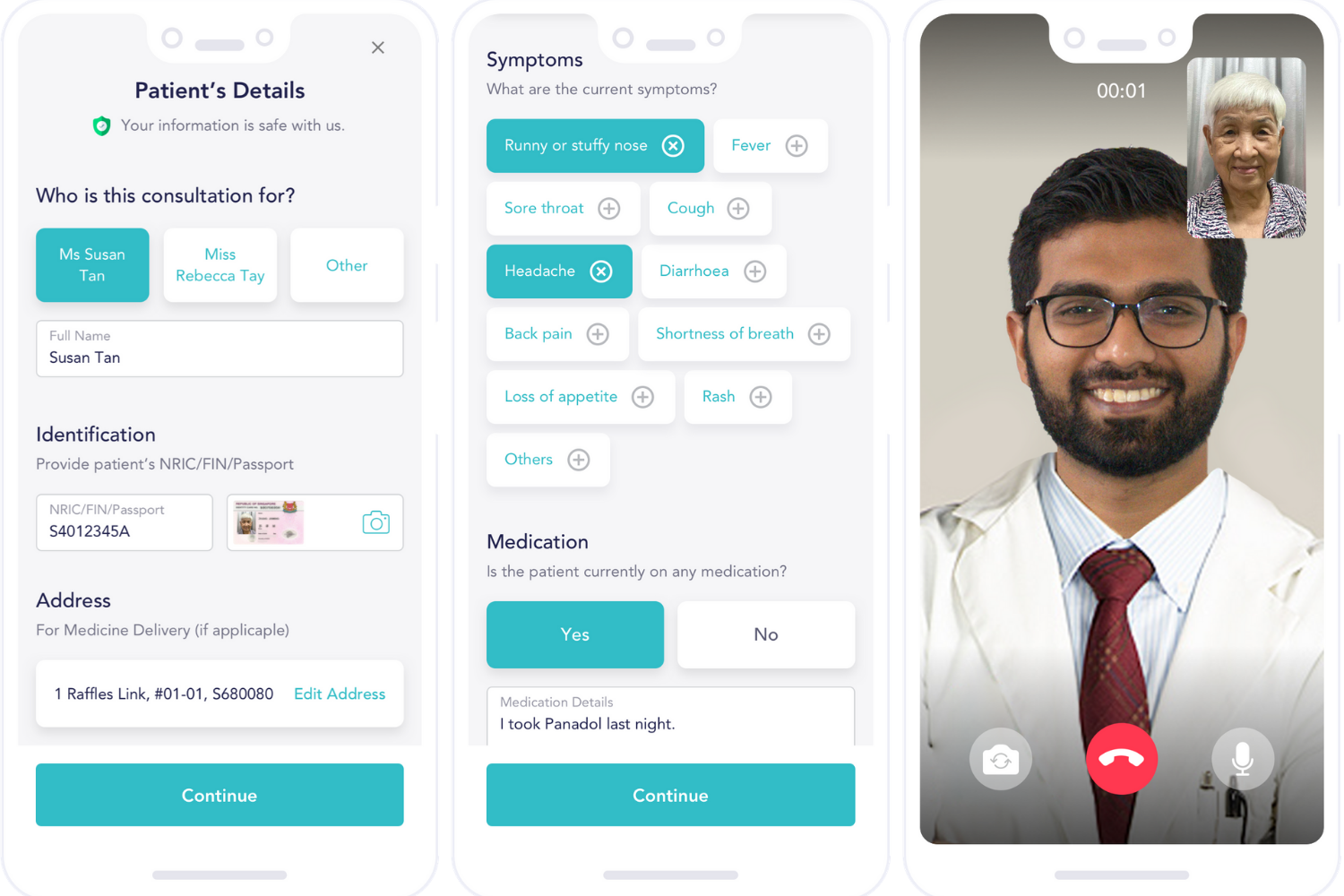 Doctor consultations - Homage app