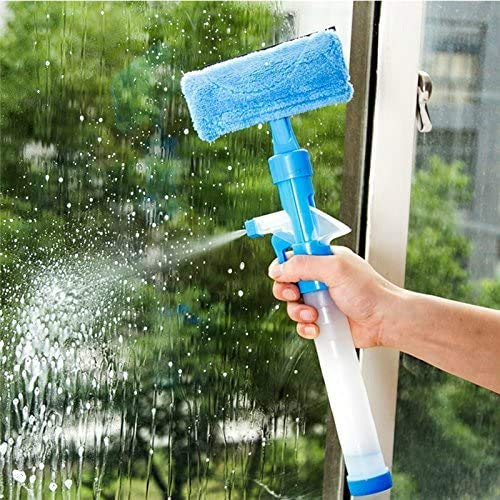 multipurpose glass cleaner is fit with a spray and a wiper