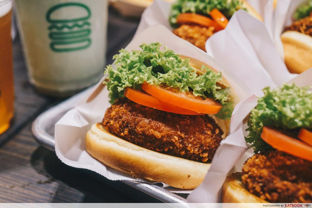 shake shack singapore - the 'shroom burger is perfect for vegetarians