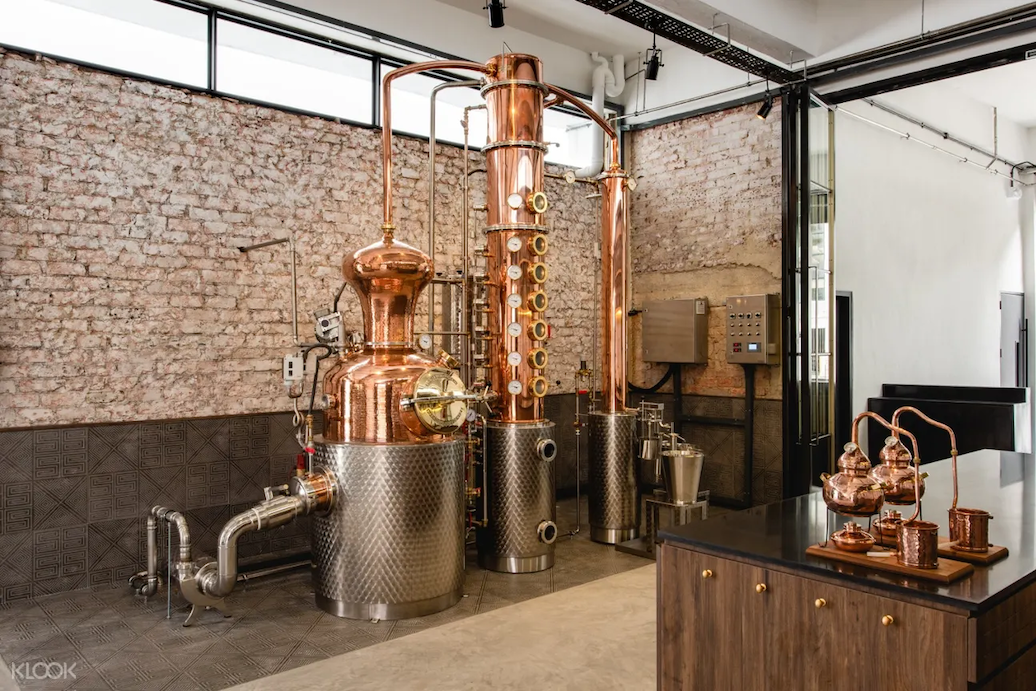 The Brass Lion Distillery in Singapore