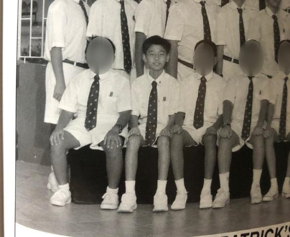 skinny-guy-singapore - primary school class photo