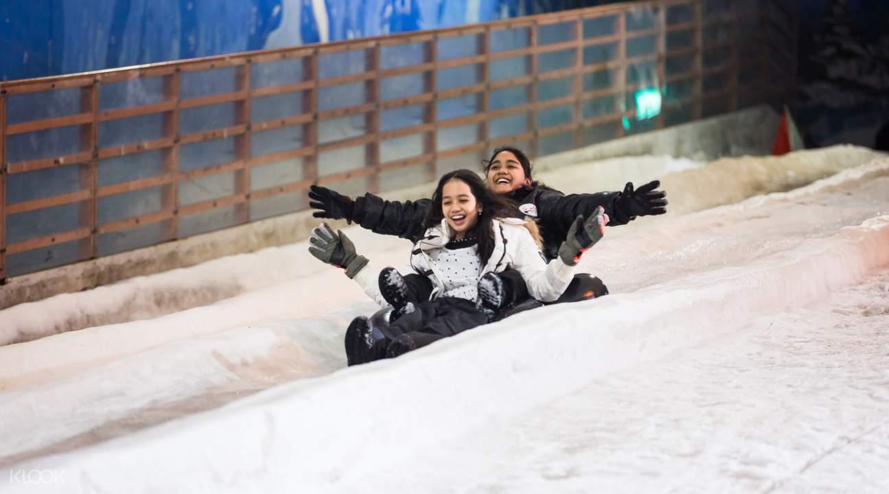 Snow city promotion - 60m slide