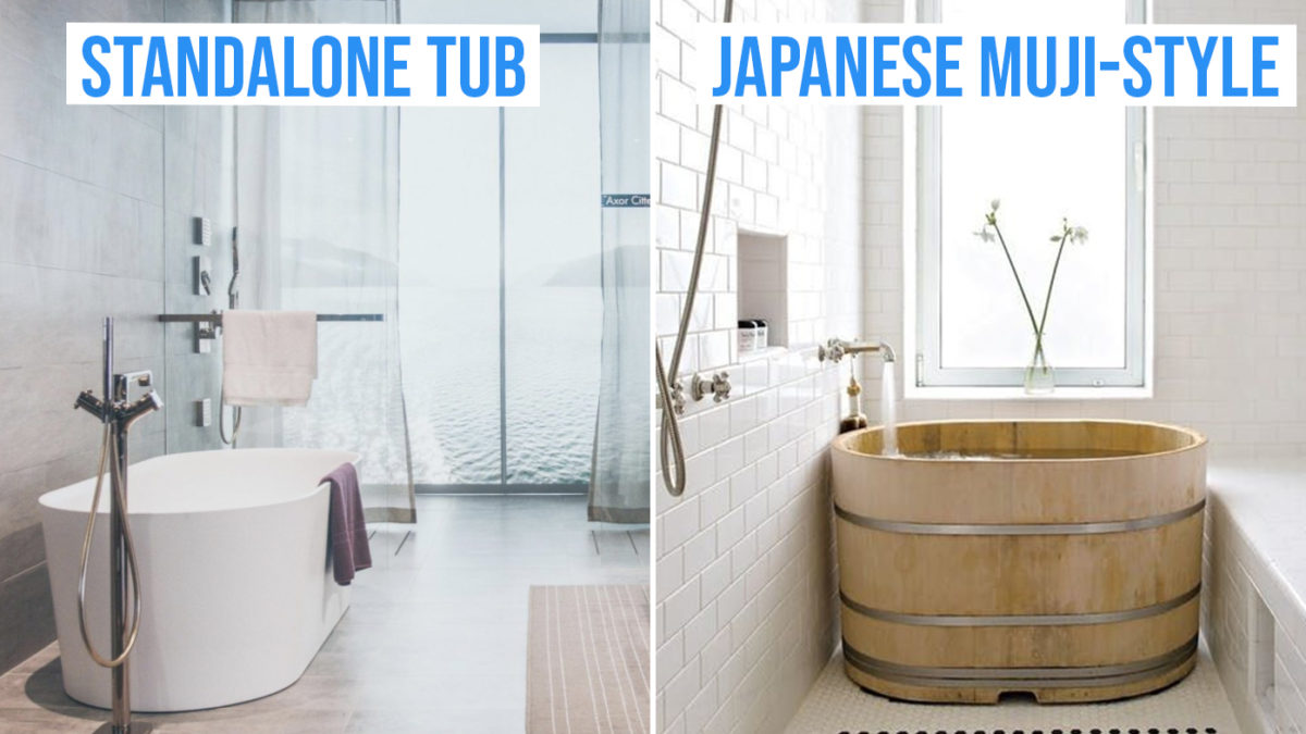 Guide To Having A Bathtub In Your Hdb Types To Choose From Making Space Where To Buy