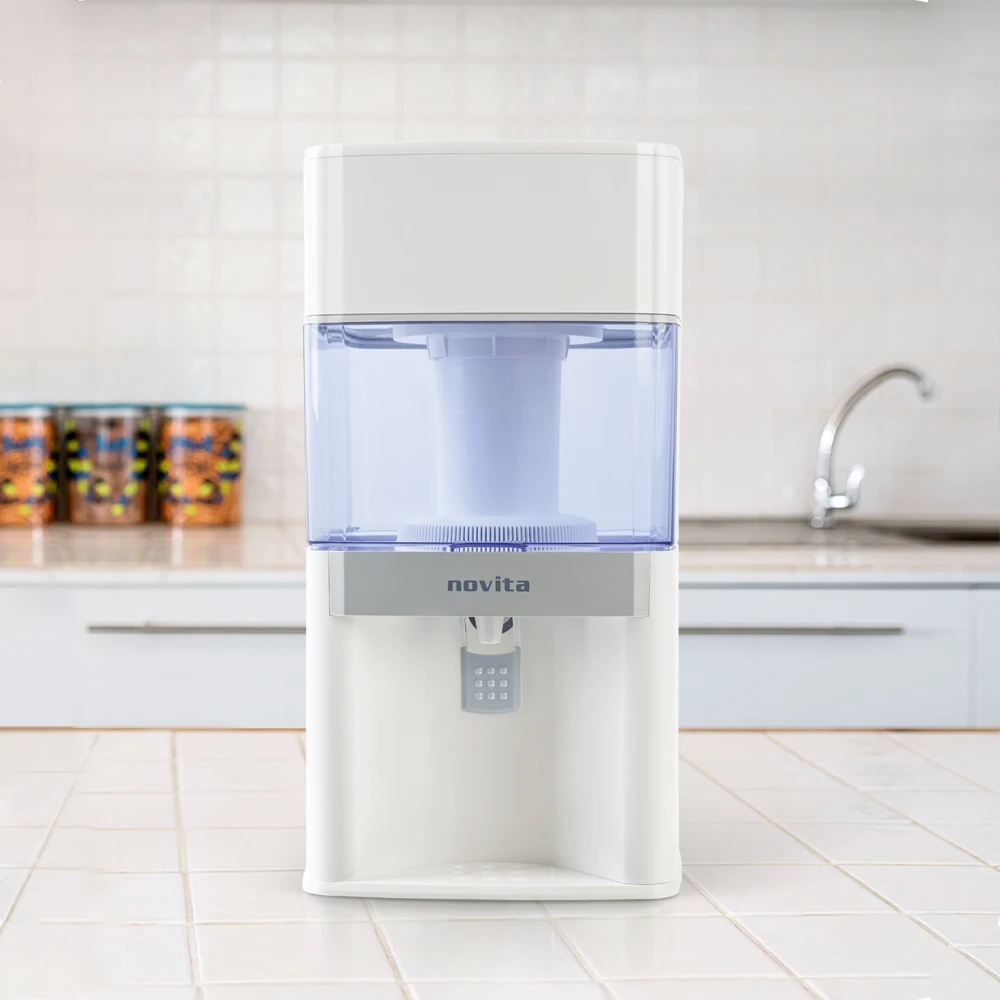 water dispenser singapore - without requiring any power, the free standing novita water dispenser produces alkaline water.