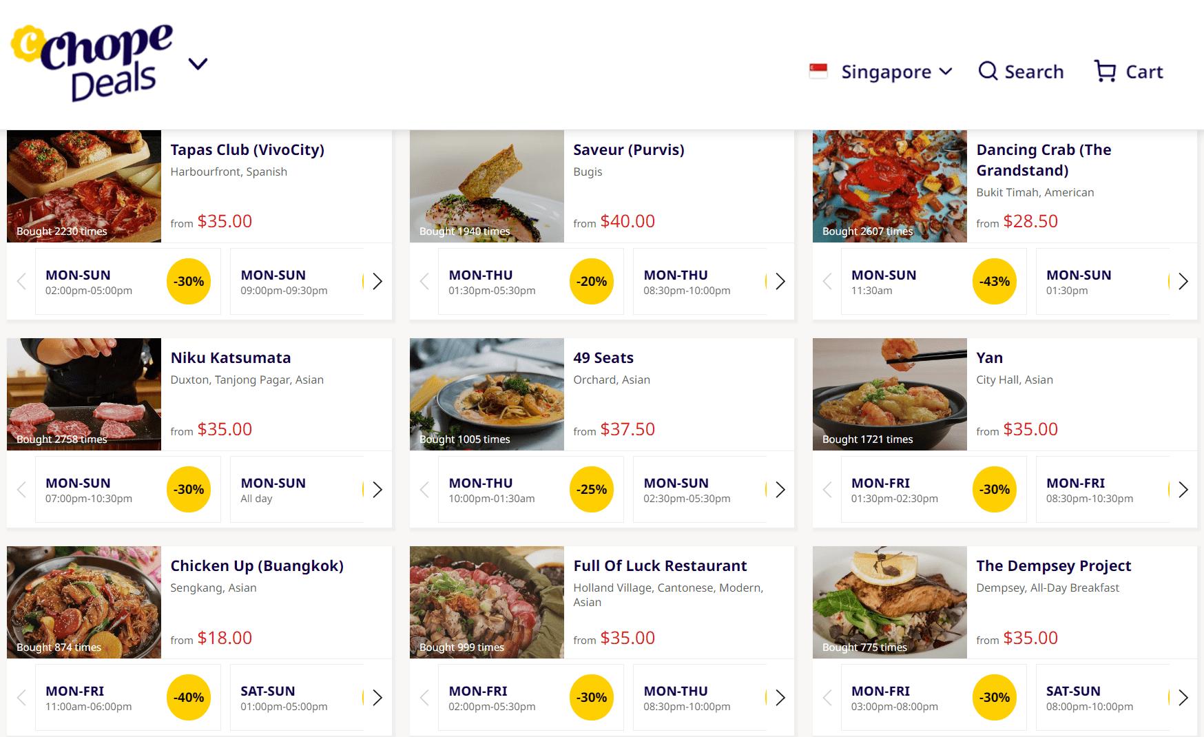 ChopeDeals Dining Vouchers