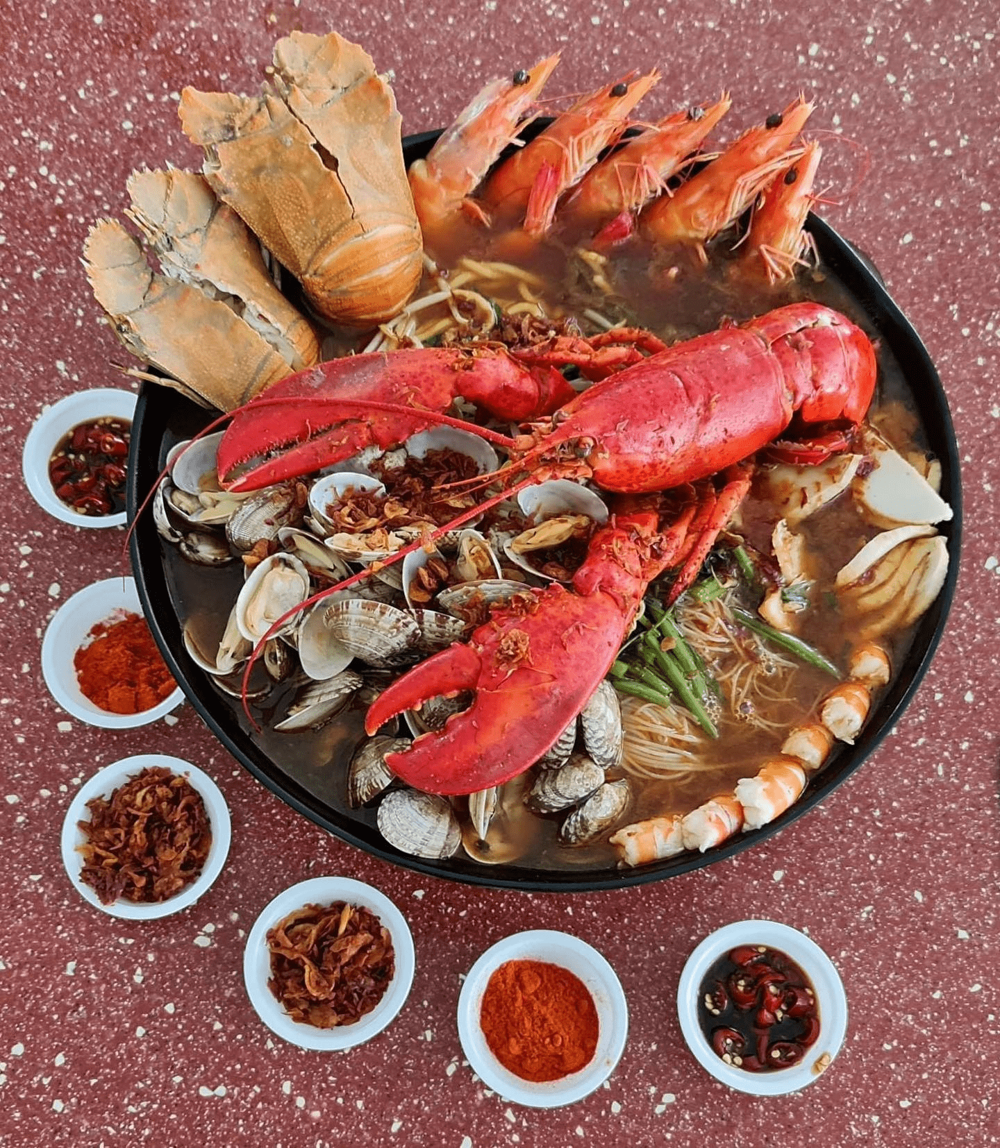 Feast with family on seafood from Deanna's Kitchen