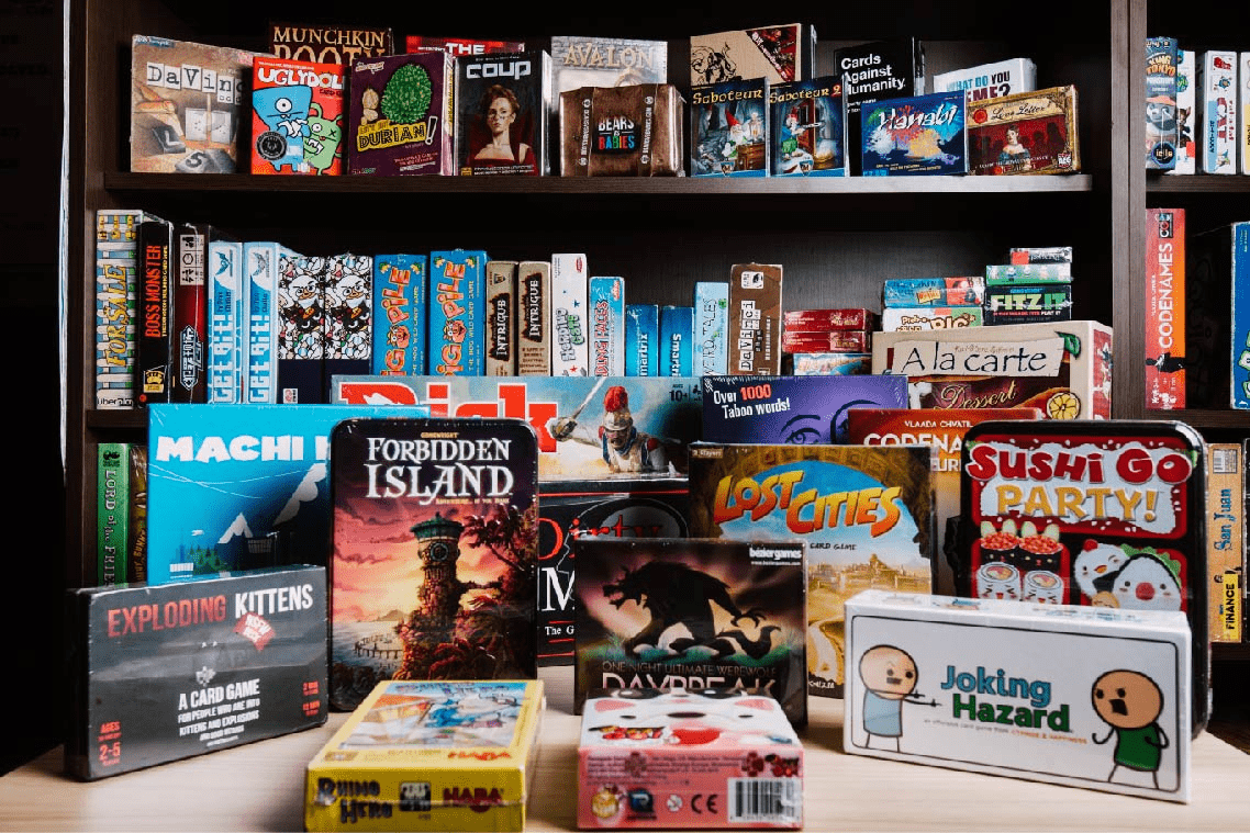 Board games from The Mind Cafe - family-friendly things to do