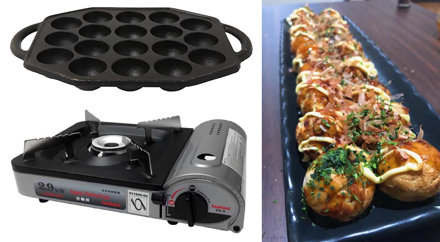 takoyaki plate, gas cooker, housewarming gifts