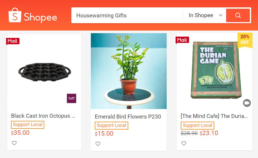 Shopee housewarming gifts