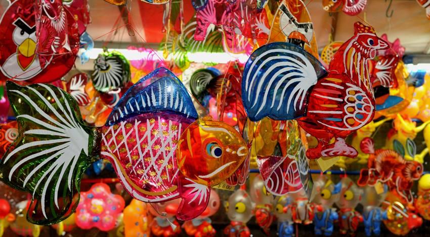 Plastic lanterns Mid-Autumn Festival