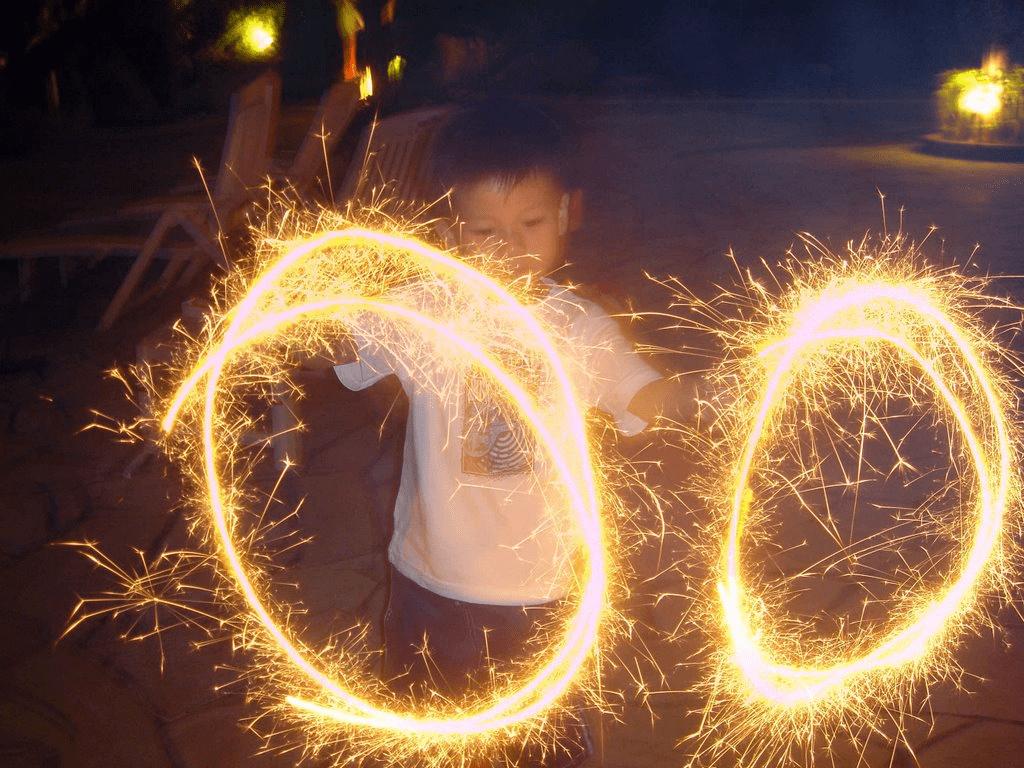 Sparklers Mid-Autumn Festival