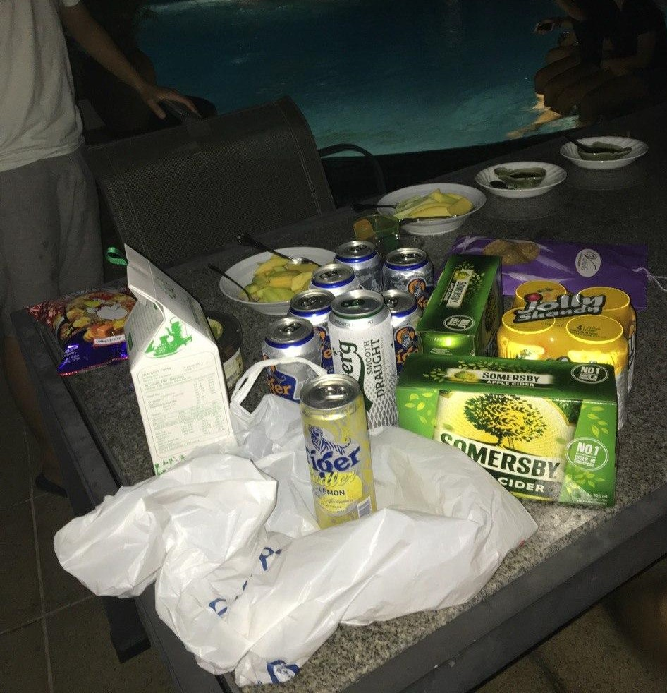 alcohol at a party, somersby, tiger, carlsberg, quit alcohol