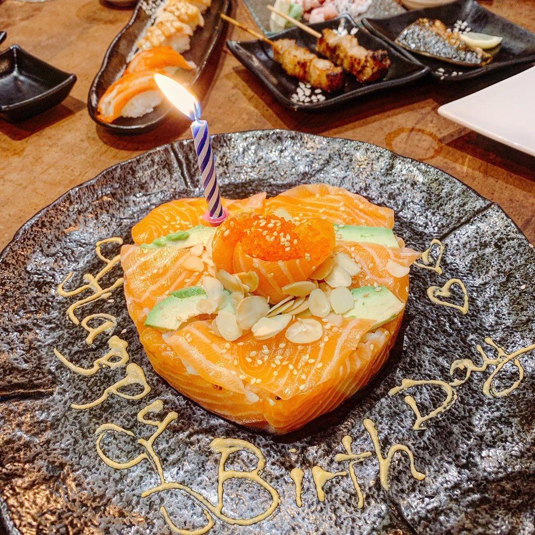 sushi cake, shin minori japanese restaurant, birthday perks restaurants