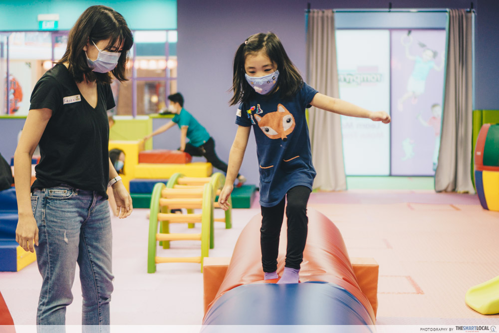 Play-based learning - Obstacle courses at romp n roll Singapore